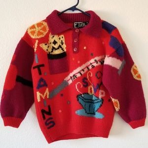 Vintage 80s Berek wool novelty sweater